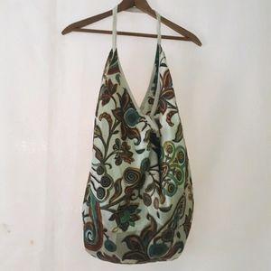 Large boho oversized silk purse